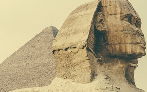 Picture Sphinx, pyramid, Egypt, sculpture