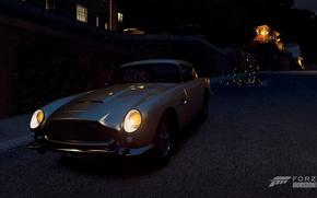 Picture night, sparks, aston martin, Forza horizon