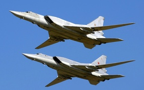 Picture the sky, wings, pair, Flight, sky, flying, wings, Bomber, couple, Tupolev, Supersonic, Tupolev, The Russian …