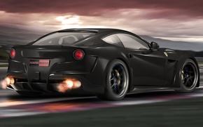 Picture Ferrari, Ferrari, Carbon, Speed, Berlinetta, F12, Novitec Rosso, Track, N-Largo