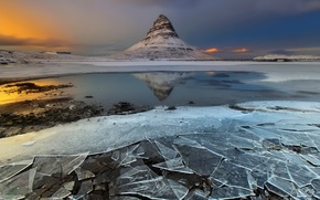 Picture mountain, ice, Iceland