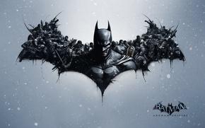 Picture snow, armor, cloak, enemies, Penguin, Bruce Wayne, Bruce Wayne, Deadshot, Deathstroke the Terminator, villains, Deathstroke …