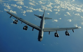 Picture strategic, bomber, heavy, STRATO fortress, Boeing, B-52