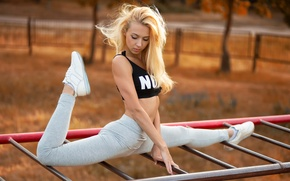 Picture sport, top, legs, twine, stretching, stretch, Anton Pechkurov, Yana Kuzmina