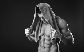 Picture power, towel, abs
