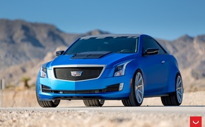 Picture Cadillac, ATS, Vossen, Silver, Wheels, 2015, VFS-1, copyright