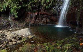 Wallpaper waterfall, water, stream