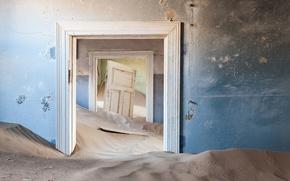 Picture sand, wall, door, dunes, room