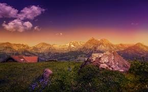 Picture landscape, mountains, stone, treatment, mountains, Rocks