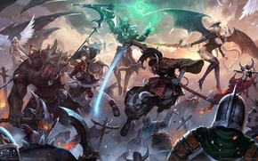 Picture battle, warriors, game wallpapers, mages, Inferno Legends, Cyclops