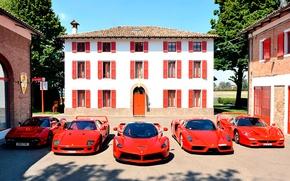 Picture auto, machine, red, house, Windows, Ferrari, red, Ferrari Enzo, ferarri, Ferrari F40, Ferrari LaFerrari, Ferrari …