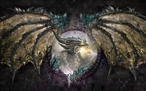 Picture dragon, wings, fantasy, Fantasy, dragon