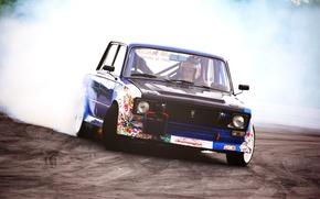 Picture competition, smoke, Drift, VAZ, VAZ 2106