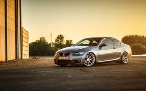 Picture BMW, BMW, silver, wheels, E92, frontside