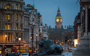 Picture street, London, the evening