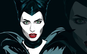 Picture Vector, Angelina Jolie, Angelina Jolie, Art, Maleficent, Maleficent