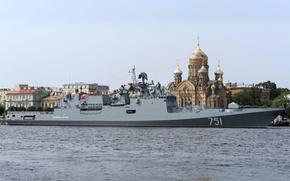 "Picture ship, Saint Petersburg, frigate, guard, ""Admiral Essen"""
