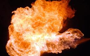 Wallpaper Fire, kerosene, heat