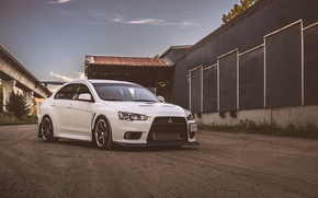Picture Mitsubishi, Lancer, Evolution, White, X