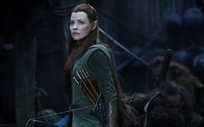 Picture Girl, Fantasy, Evangeline Lilly, Beautiful, Green, Warrior, The, Wallpaper, Eyes, The Hobbit, Weapons, Arrow, Elf, …