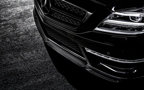 Picture face, lights, Mercedes-Benz, Mercedes, bumper, AMG, Black, Sedan, C218, CLS 63, 2015, CLK-Class, chernyb sedan
