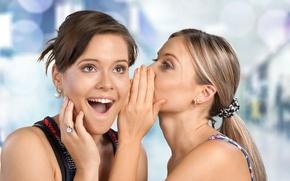 Picture women, joke, surprise, secret