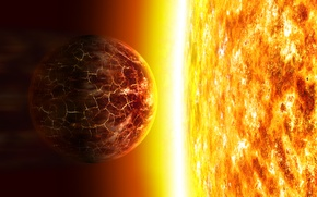 Picture the sun, planet, burns