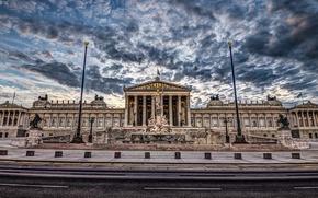 Picture architecture, Vienna, Parliament, Austria, hdr
