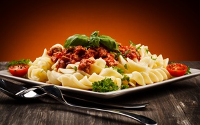Picture Spoon, Plate, Plug, Food, Ketchup, Pasta, Main Dishes