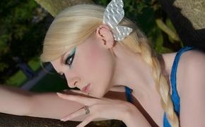 Picture Girl, Nature, Model, Beauty, Blonde, Outside, Close Up, Maria Amanda Schaub