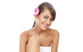 Picture flower, girl, smile, model