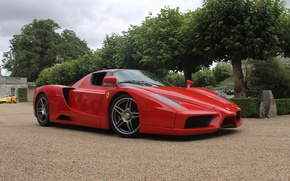 Picture Ferrari, red, supercar, Enzo