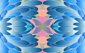 Picture leaves, line, color, symmetry