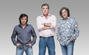 Picture Wallpaper, jeans, Top Gear, wallpaper, journalists, Discovery, men, top gear, Jeremy Clarkson, Richard Hammond, funny, ...