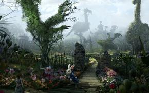 Picture tale, garden, rabbit, Alice