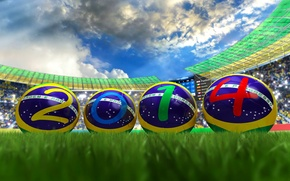 Picture football, the ball, stadium, Brazil, the world Cup, 2014