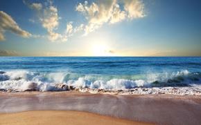 Picture sand, sea, wave, beach