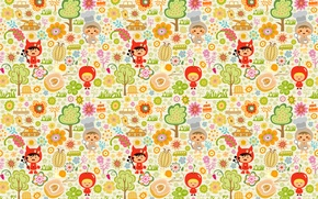 Wallpaper Apple, costumes, children, children, toys, trees