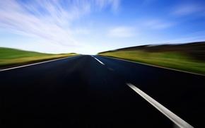 Wallpaper markup, speed, Road