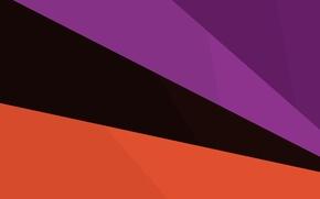 Picture line, orange, black, purple, material