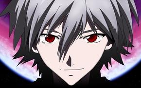 Picture look, anime, guy, Evangelion, Evangelion