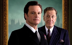 Wallpaper Geoffrey Rush, the film, The King's Speech, Geoffrey Rush, Colin Firth, King says, Colin Firth, ...
