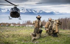 Picture army, soldiers, English Kystjegerkommandoen