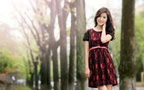 Wallpaper pose, girl, background