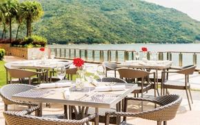 Picture lake, Italy, restaurant, terrace, Terrace Alfresco