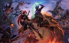 Picture weapons, magic, art, battle, League of Legends, knock sausage