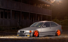 Picture auto, tuning, BMW, BMW, grey, tuning, E36