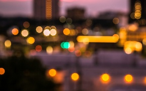 Picture macro, city, the city, lights, background, Wallpaper, blur, wallpaper, widescreen, background, macro, bokeh, bokeh, full …