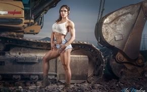 Picture muscles, pose, female, miss fitness, sandra grajales romero
