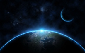 Picture light, blue, stars, planets